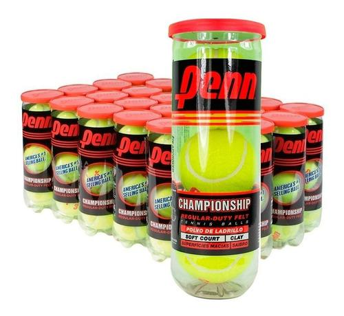 Tubo Pelotas Tenis Penn Championship Sello Rojo Pack X 2