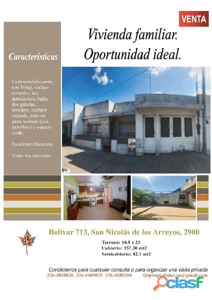 Dueño vende casa en excelente ubicación de san nicolás de los arroyos