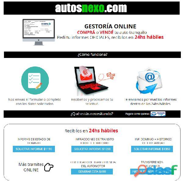 Gestoría del automotor online, trámites en 24hs! AUTOSNEXO 1