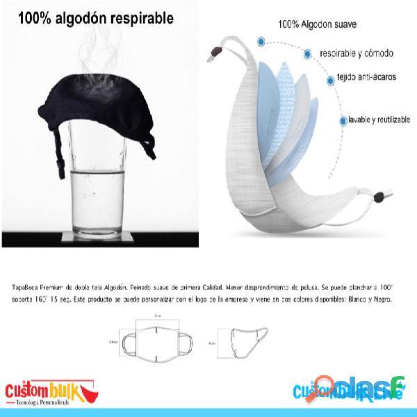 Tapa Boca Reutilizable con Logo   Empresas