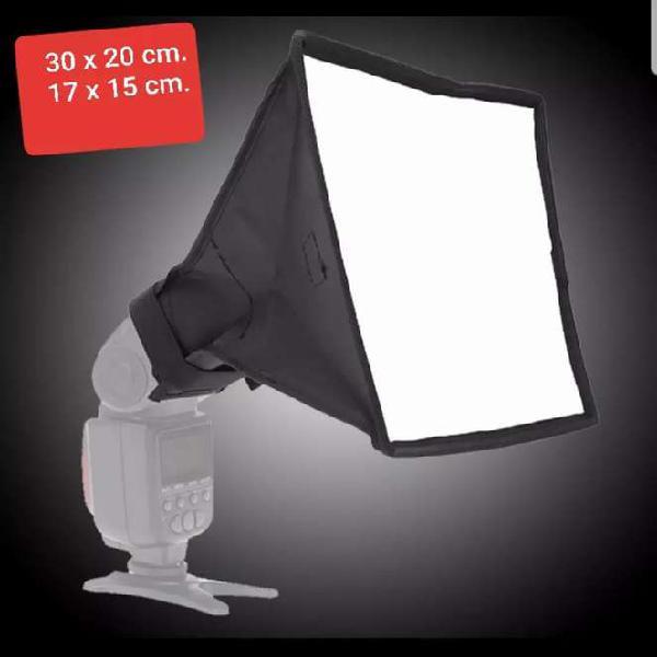 Difusor de luz softbox de flash de zapata 2 unidades.