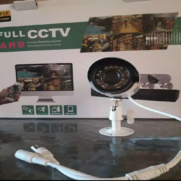 Kit de seguridad cctv listo para instalar 4 cámaras