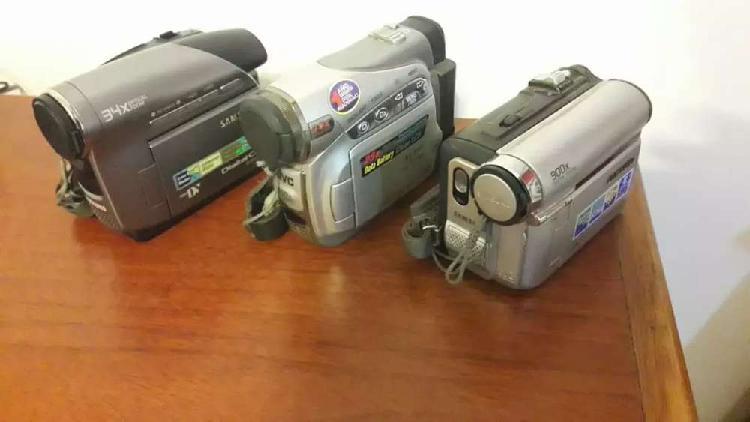Lote 3 camaras filmadoras