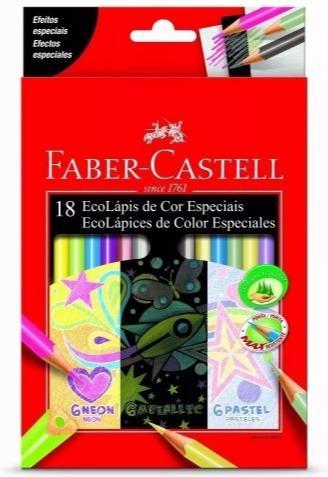 Lápices x18 fluo+metalizado+pastel faber-castell mp adrogue