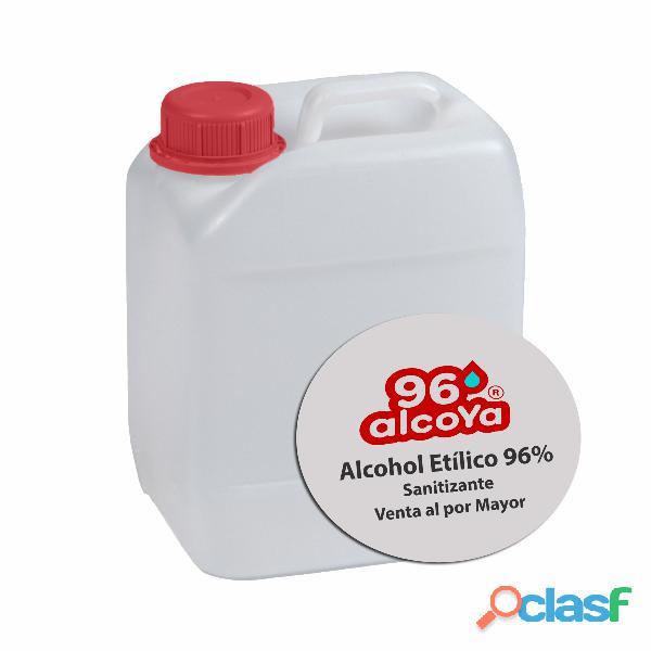 Alcohol etílico 96° venta a granel y envasado. a partir de los 25 litros