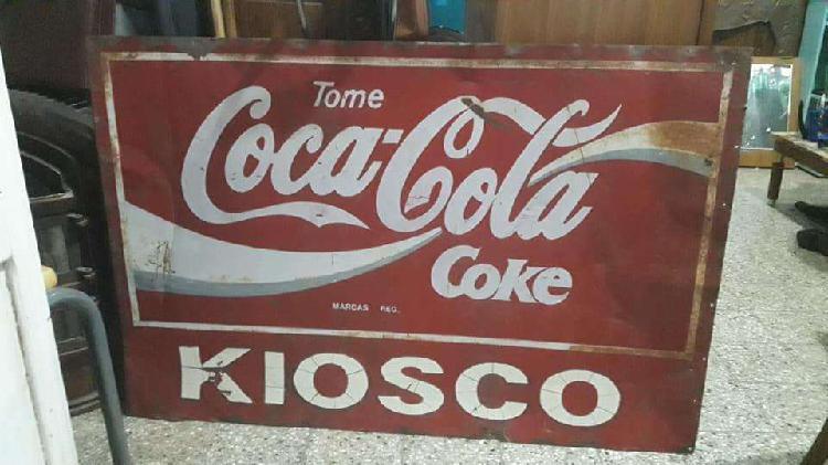 Cartel antiguo coca cola