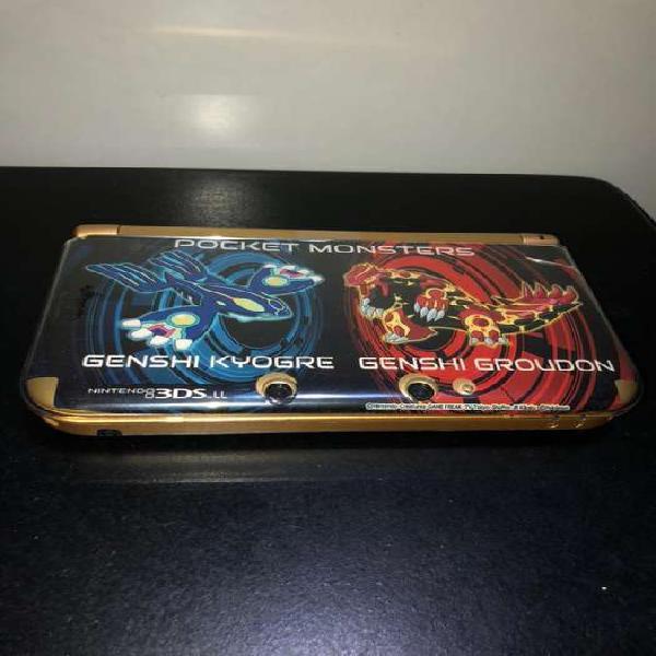 Nintendo 3ds xl dorada edición zelda con estuche de