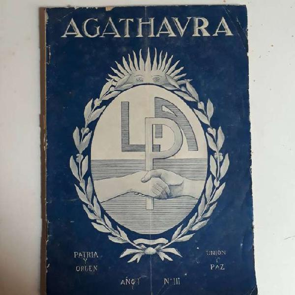 Revista AGATHAURA de Liga Patriótica Argentina. 1922