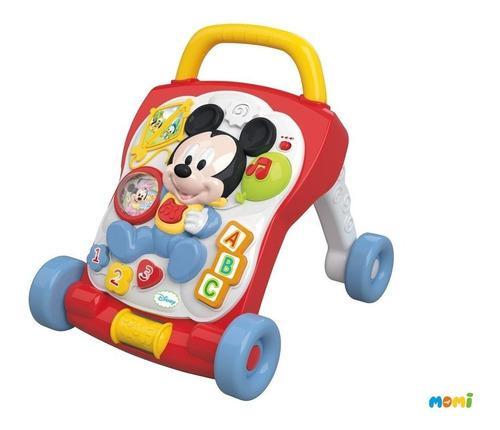 Andador c actividades 2 en 1 baby mickey minnie primer paso
