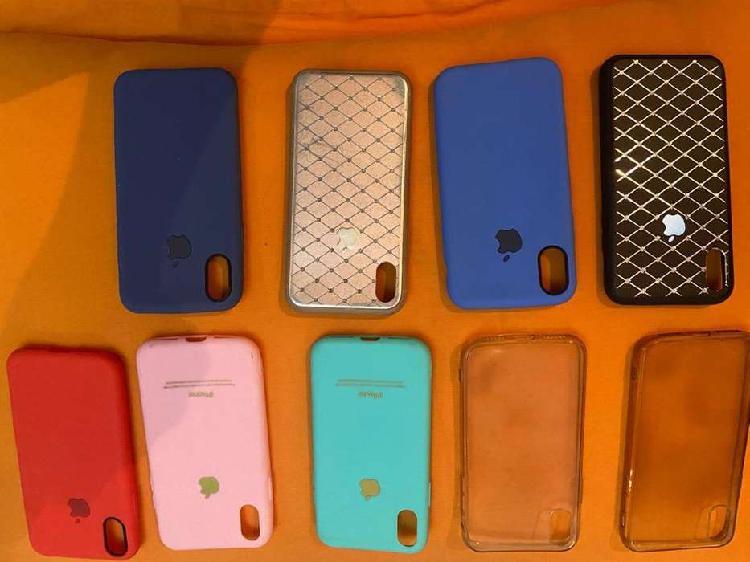 Fundas iphone x y 8 nuevas y usadas. vidrio templado