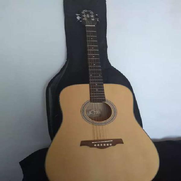 Guitarra acústica ramis + funda acolchada + porta puas