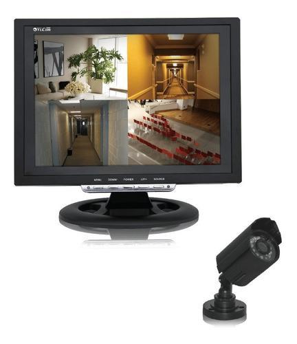 Kit video vigilancia lcd vicom 12q cctv + 1 camara seguridad
