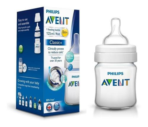 Mamadera avent silicona classic 0m+ 125ml - bemar babys