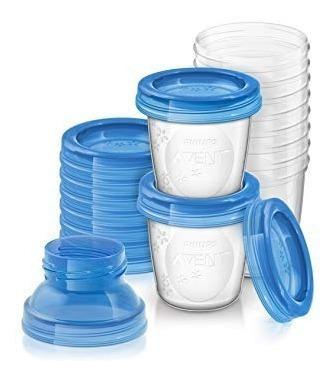 Vasos tarritos conservadores leche avent 10 unidades tapas