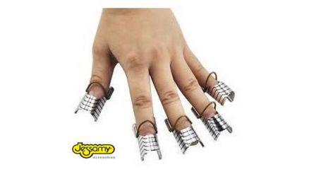 Moldes para uñas de teflón x 5 unidades jessamy