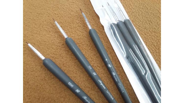 Set 3 pinceles liner deco uñas