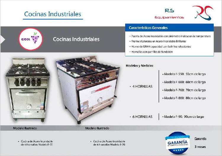 Cocinas industriales - todos los modelos / medidas