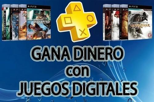 Gana vendiendo juegos digitales ps3, ps4 y xbox one, 2020