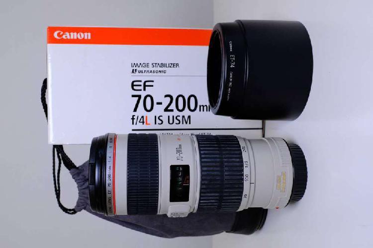 Lente canon 70-200 f4 l is usm impecable