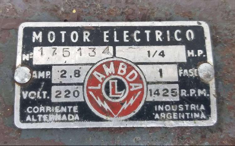 Motor electrico monofasico 1/4 hp lambda