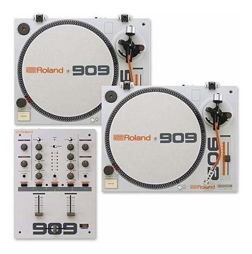 Roland tt-99 dj turntables (2) con dj-99 mixer ©