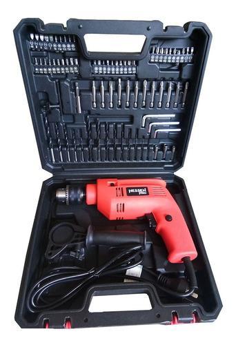 Taladro de impacto 500w + kit 72 accesorios hessen pro