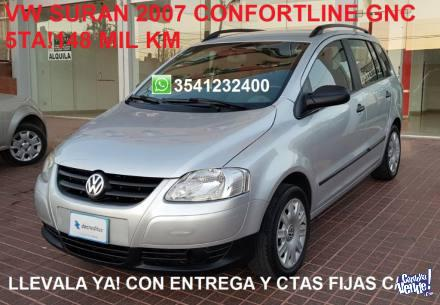Vw suran 2007 gnc confortline impec! financio r-men
