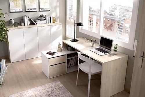 Escritorio pc oficina melamina nordico moderno juvenil c1