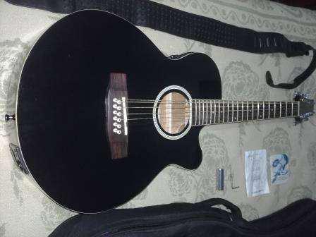 Guitarra de 12 cuerdas electroacústica stagg