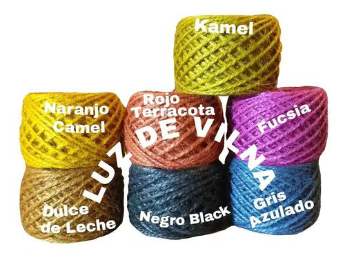 Hilo yute color 3 mm x 100 grs tejidos artesania decorar