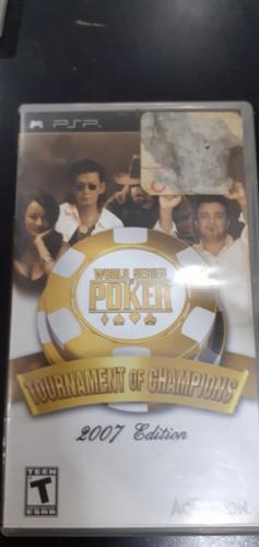 Juego psp world series of poker original fisico