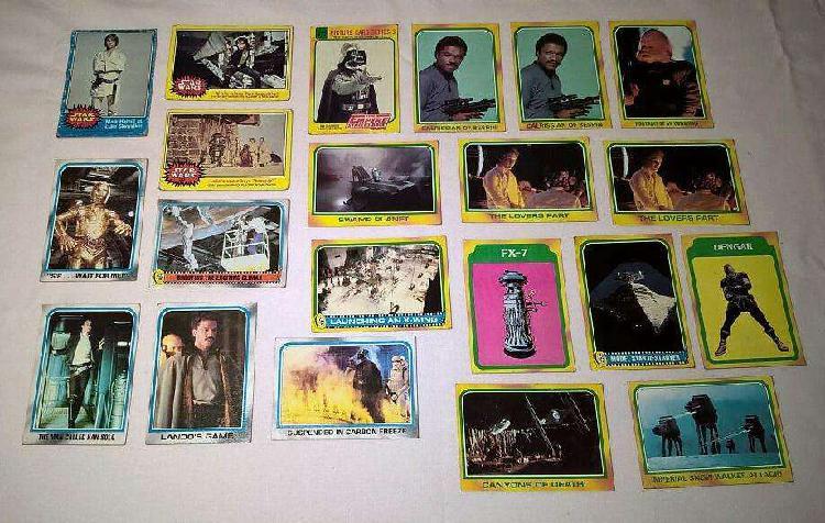 Lote 21 figuritas topps cards usa. star wars y el imperio