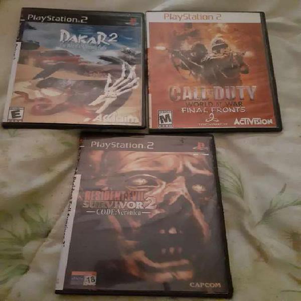 Vendo juegos de playstation 2