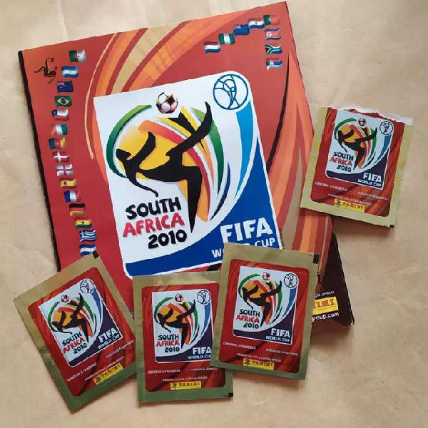 Lbum mundial sud áfrica 2010 + 4 sobres. fútbol
