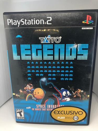 Cd play station 2 taito legends 29 juegos sega