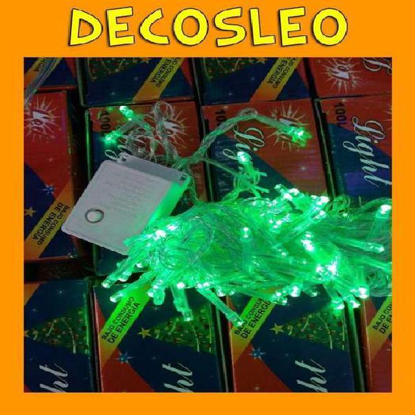 Decosleo * luces arroz x 100 verde fuerte calidad premium