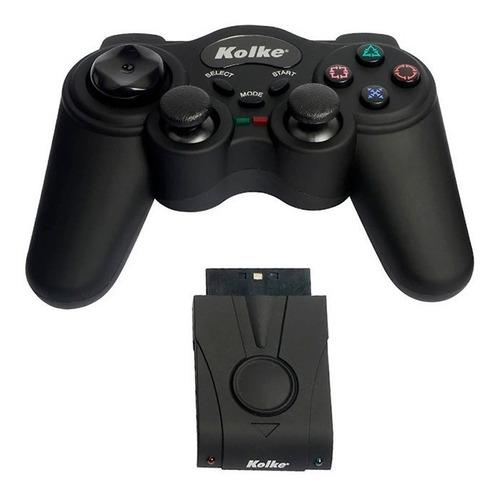 Joystick ps2 kolke kjg-105 inalambrico color negro caballito