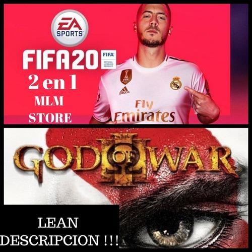 Juegos fifa 20 + god of war 3 ps3, lean descripción...