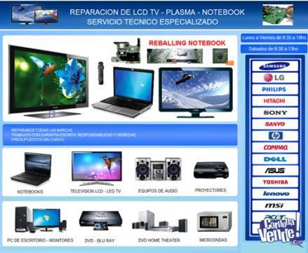 Reparación de lcd / led / tv / plasma - servicio técnico