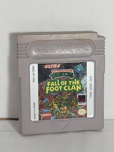 Tortugas ninjas fall of foot clan tmnt nintendo game boy