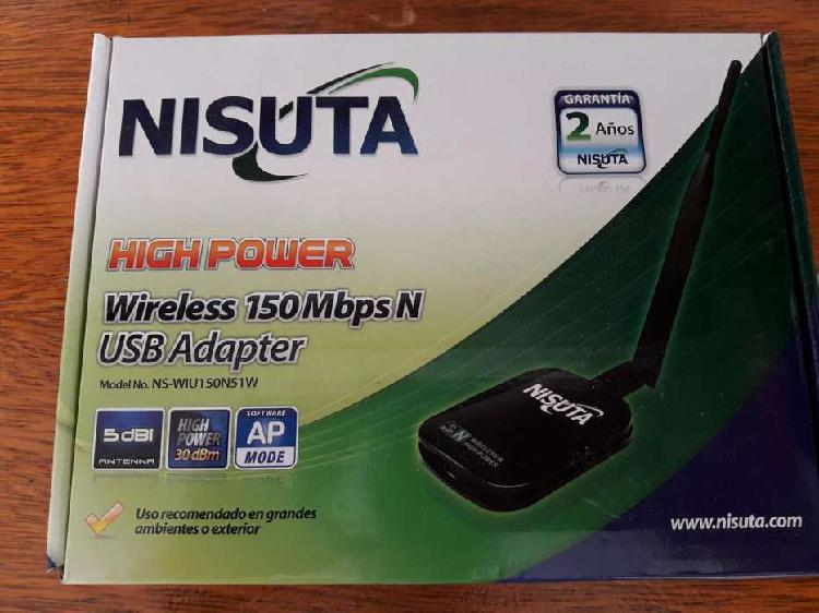 Wifi usb nisuta 150 mbps alta cobertura antena desmontable