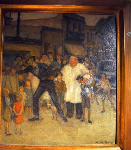 Antiguo oleo alberto maria rossi (1879 - 1965) 55 x 50