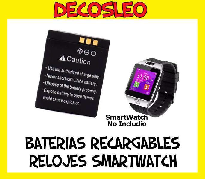 Bateria reloj inteligente smart watch dz09 w8 a1 v8