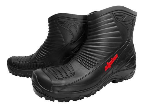 Botas touring impermeables agua lluvia pvc alpina sti motos