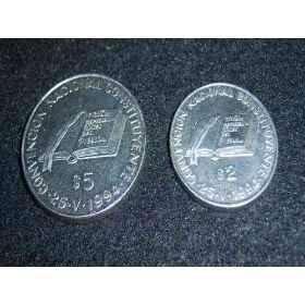Monedas conmemorativas convención nac. const. 1994