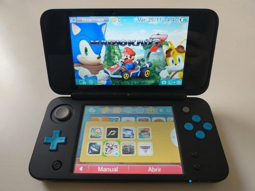 Nintendo 2ds xl flasheada + 81 juegos + cargador