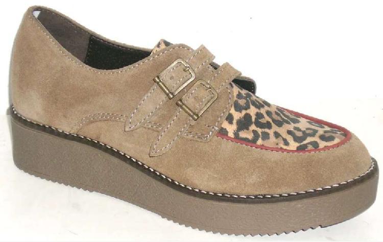 Zapatos creepers cuero vacuno marca zuca