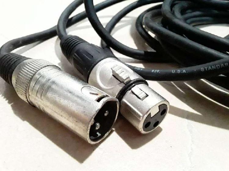 Cable para micrófono con fichas canon genericas cable
