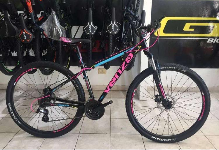 Bicicleta venzo skyline evo 29 color rosa talle s