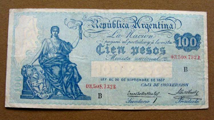 Billete de 100 pesos argentina 1928